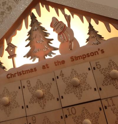 wooden advent calendar snowman theme darkling designs 10. Black Bedroom Furniture Sets. Home Design Ideas
